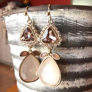 New! Champagne color dangle earrings
